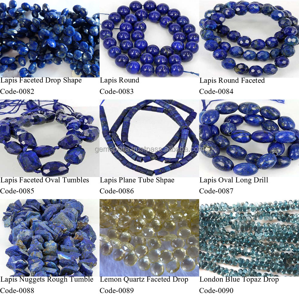 Lapis Lazuli Beads Oval Donut Drop Teardrop Trillion Onion Ball Moss Pear Round Shapes