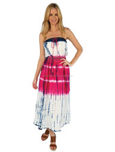 2016 Fashionable & Designer Girl's Wear Tie & Dye Rayon Sleeveless Long Tube Dress
