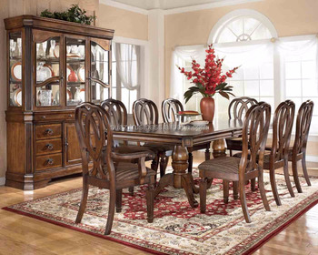 Standard Furniture Dining Room McGregor Dining Table with 18 ...