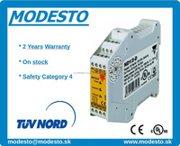 ND12DCG, Two hand safety modules Category 4, safety relay Carlo Gavazzi 24V DC, CE, TUV NORD, UL, 2 Years Warranty,