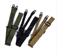 Airsoft War Game two Point Bungee Rifle Gun Adjustable police Gun Sling Strap belt