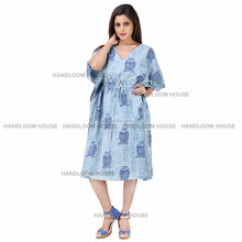 Indian Boho Kaftan Kimono Evening Summer Casual Beach Maxi Long Dress Plus Size