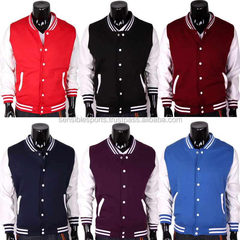 Custom Made Plain Satin College Varsity Jacket/ Letterman Varsity ...