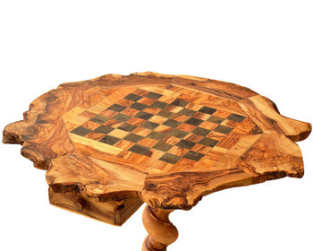 Hand Carved Chess Set Olive Wood Board