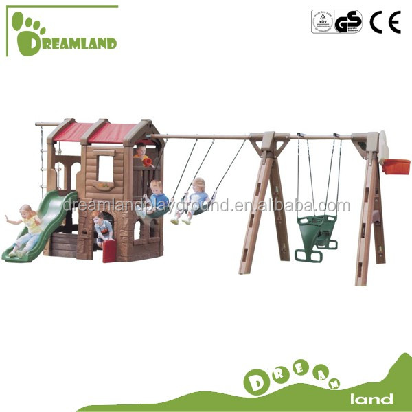 Cheap Kids Toy Indoor Outdoor Kids Plastic Baby Swing And Slide Play Set