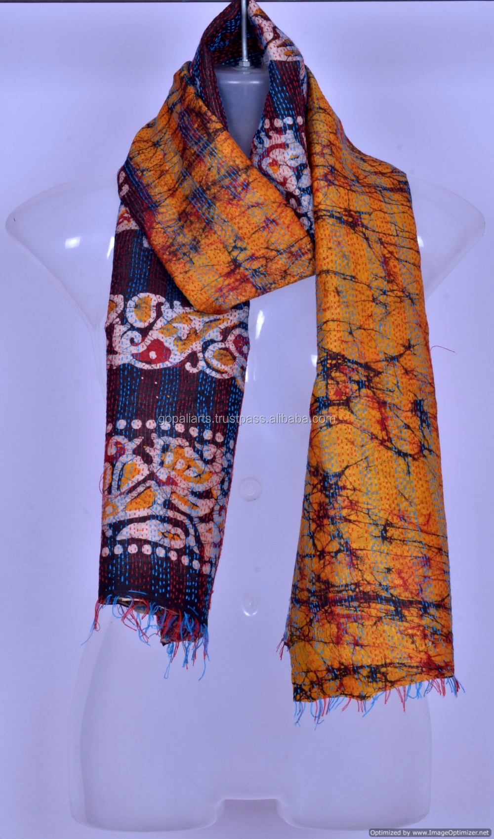 Silk Two Sided Reversible Two Tone Wrap Scarf Stole Shawl Hijab Head Scarves