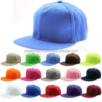 Snap Back Flat Peak Baseball Cap In 16 Different Colors 055022287fa