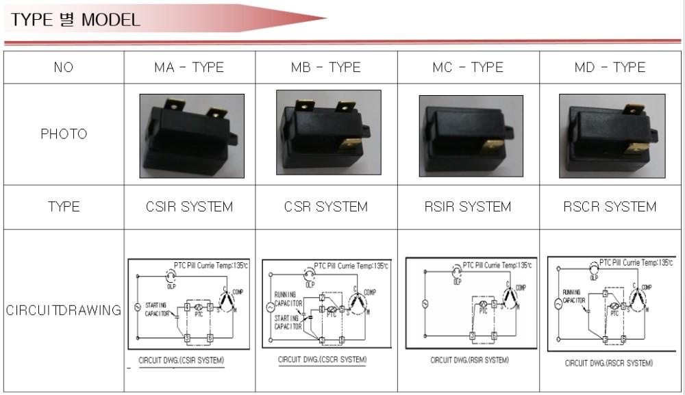 Original Refrigerator Start Relay P6r8ma P6r8mb P6r8mc