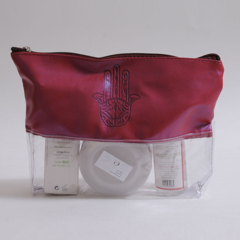 Beauty & Care kit composed of organic argan oil, rose water and Ghassoul