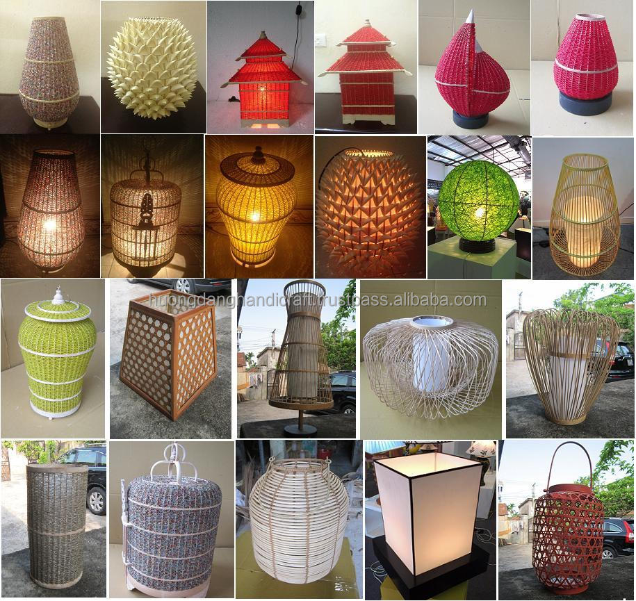 bird cage style bamboo lamps,led lantern for home and hotel