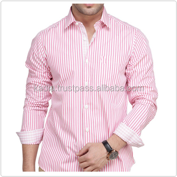 Baby Pink With White Line Mens Dress Shirt - Buy Man Fashion Shirt ...