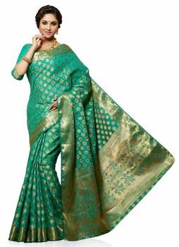 Meghdoot Woven Art Tussar Silk Saree