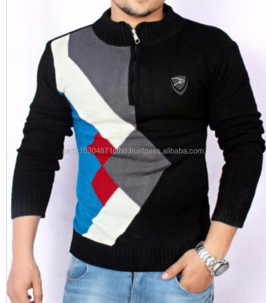popular cute latest designs comfortable soft man sweaters by Hawk Eye CO.