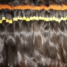 Virgin bulk single drawn human hair Extension , No shedding & Tangle free Indian Temple Human hair