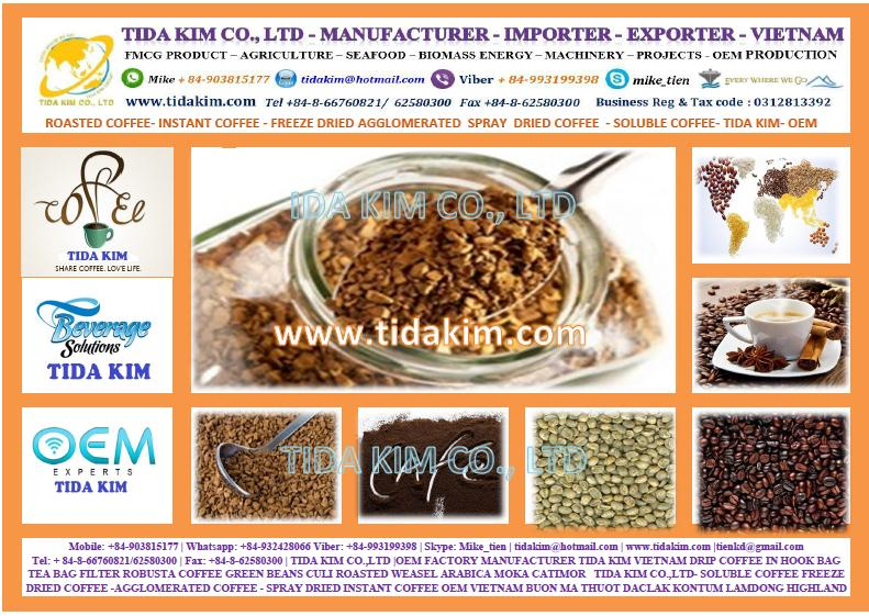 Freeze Dried Instant Coffee 100%- Agglomerated Arabica Robusta ...