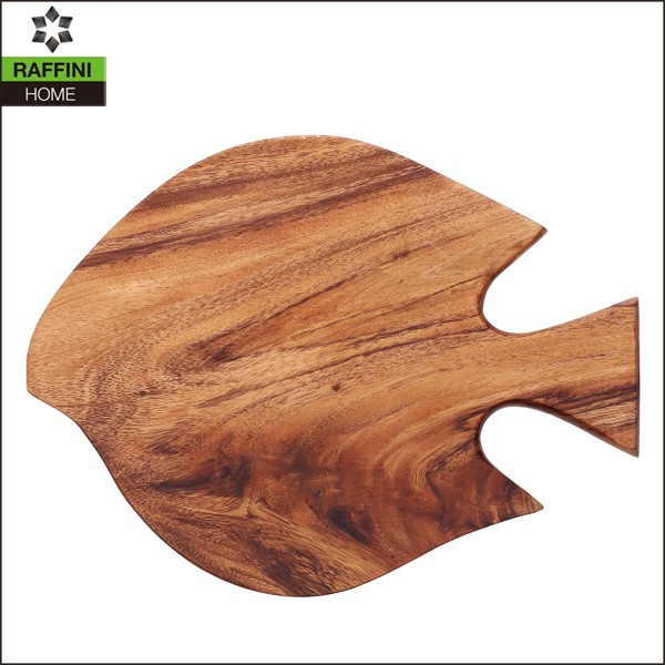 Acacia Wood Fish Shaped Cutting board