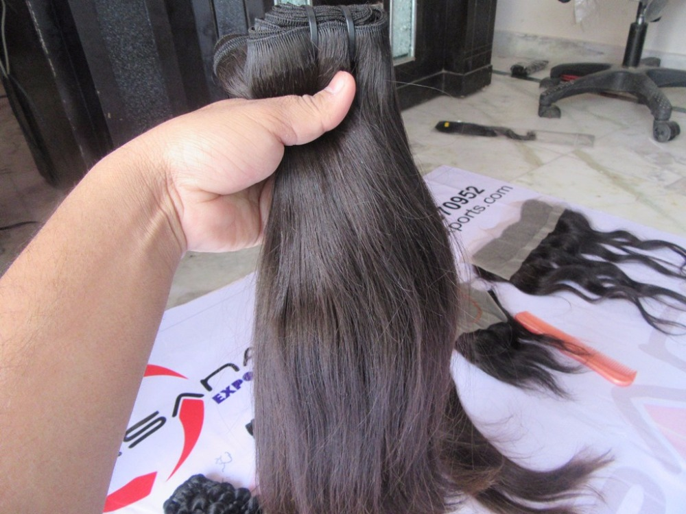 100% virgin hair raw temple indian hair straight raw cambodian unprocessed virgin