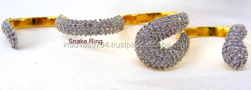 Party wear Cz Snake Rings