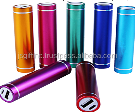Cylinder Mobile Phone 2600mAh Portable Powerbank