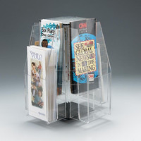 fashionable acrylic brochure holder/leaflet rack