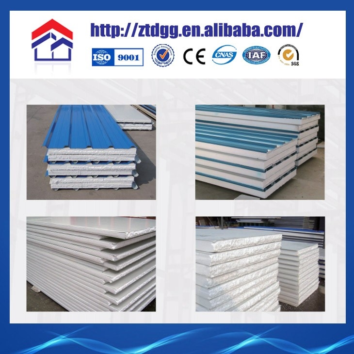 Cheap Roofing Materials Exterior Decorative Metal Wall Panel Eps Sandwich Panel From China