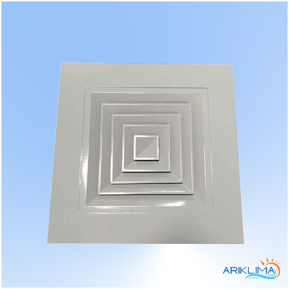 Wide Frame Aluminum Four Way Ceiling Ducting Diffuser Grill No Moq Switch Design