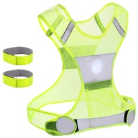 Reflective Vest for Running or Cycling Including Two 3M Safety Reflective Bands (Women and Men, with Pockets, Gear for Jogging,