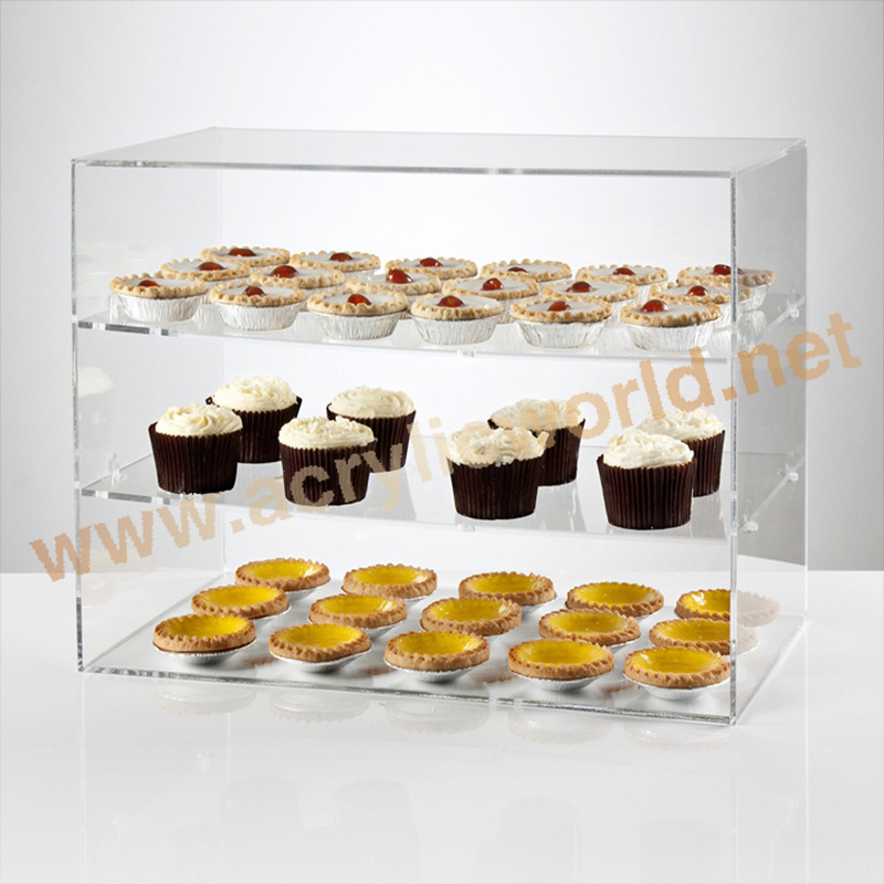 FDA approved acrylic cake display stand three shelves