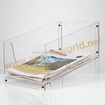 A4 Size Clear Transparent Leaflet Flyer Display Stand Acrylic Brochure