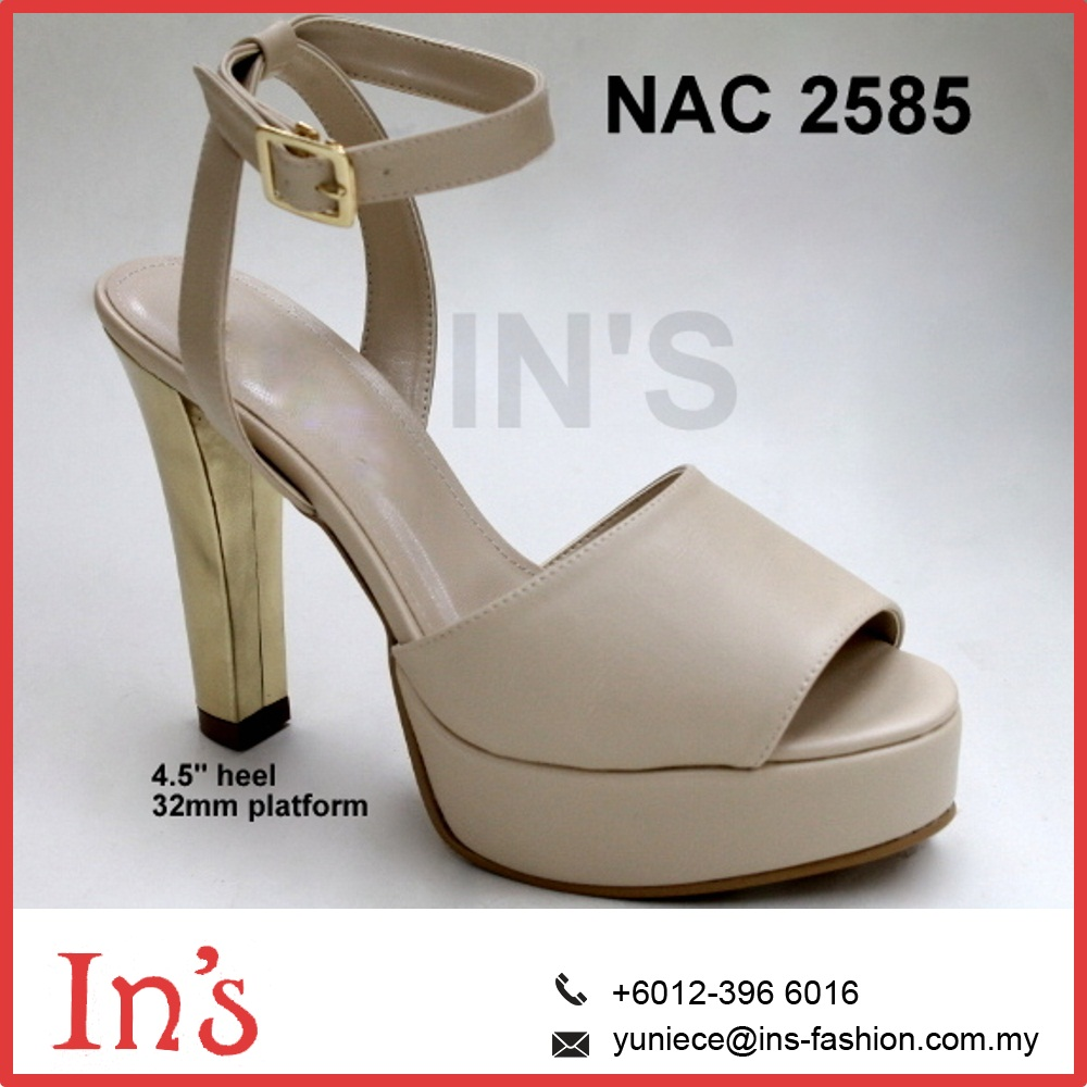 NAC 2585 Ladies High Heels with platform Shoes in Beige