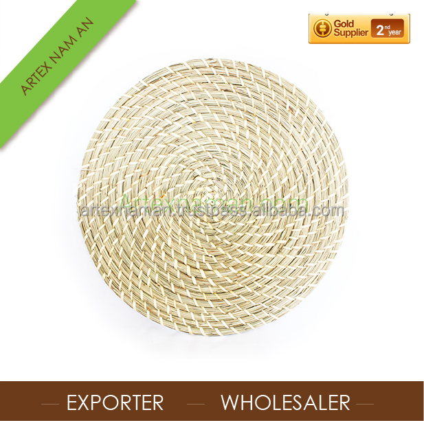 Round Handwoven Seagrass Placemats / Coasters manufacturer