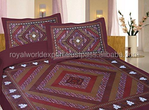 High Quality Bedsheet Fabric 100% Cotton Digital Printing 100% Cotton Bed Sheet  Design,bedsheet Set