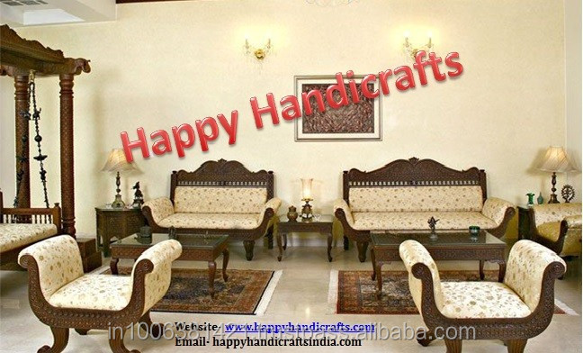 Indian Wooden Maharaja Royal Living Room Sofa Set Buy Royal