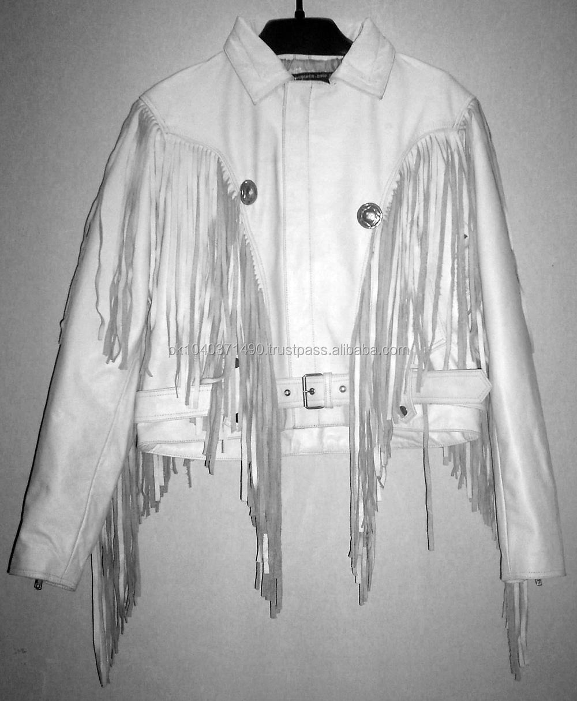 Leather jacket with fringe - Men Fringed Leather Pants Ladies Fringes Leather Jacket Western Fringes Jacket Western Pants