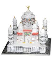 "3""x3"" White Marble Small Color Taj Mahal Marble Taj Mahal ..."