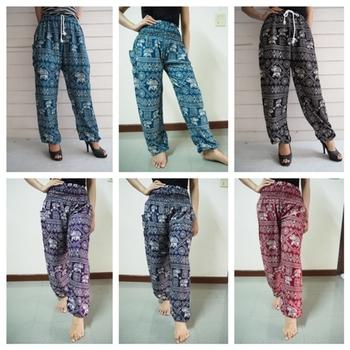 5e8a6635f8d5c1 Elephant pants Thai Harem pants, Women harem pants, One size fits all