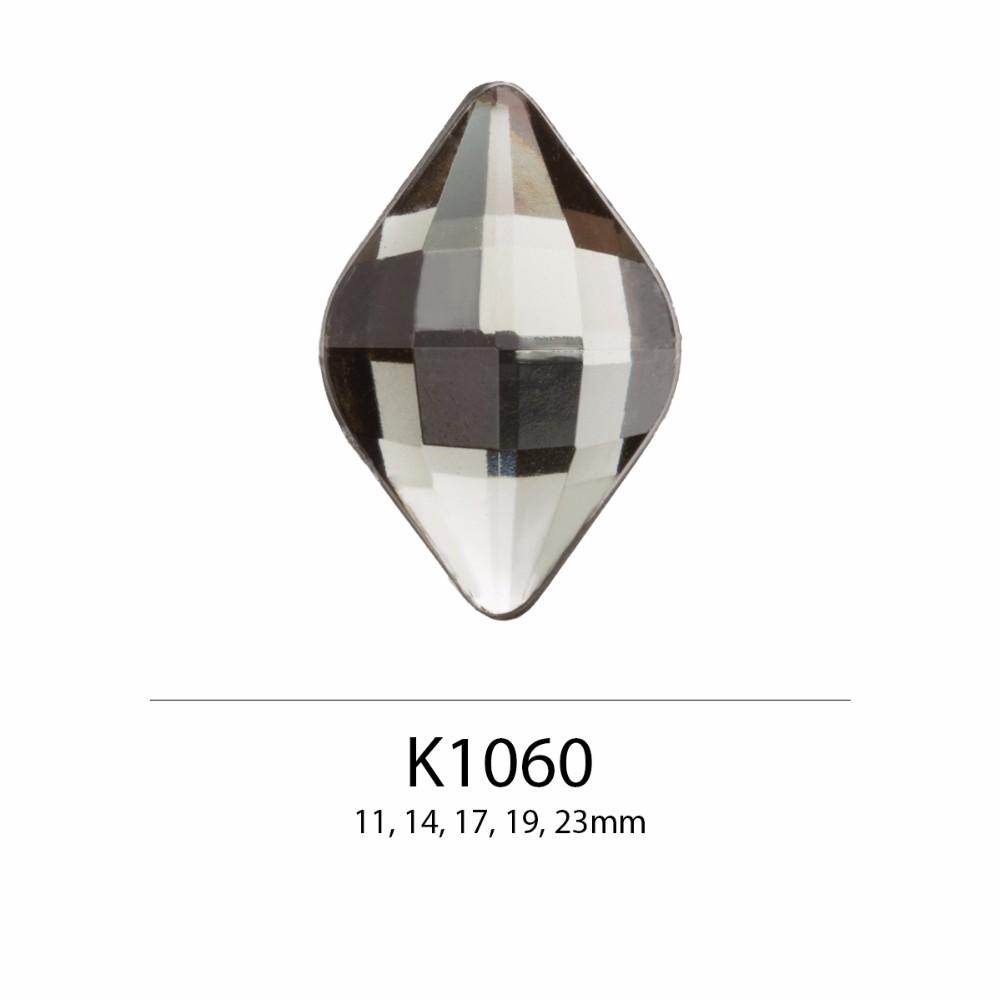 Dalam Stok Produk Bentuk Diamond Check Cut 11mm 14mm 16mm 19mm 23mm Flat Belakang Berlian Imitasi untuk Membuat Perhiasan, aksesoris Rambut