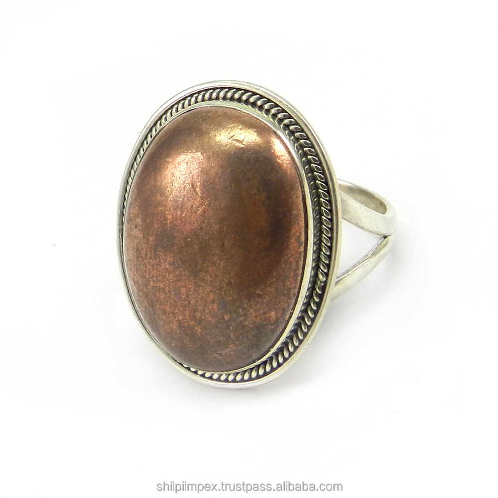 Handmade Beautiful Silver Ring - Gold Pyrite Gemstone Ring- 925 Sterling Silver Gemstone Fashion Ring - SIRG1052