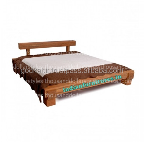 /Modern Style Comportable Wooden Style Furniture Modern Head Board Mango Wood Luxurious Bed.