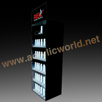 Custom retail store counter top acrylic e cig display case/e cigarette counter display/e cigarette display stand