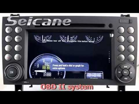 2000 2001-2008 Mercedes Benz SLK R171 DVD player JBL sounds system with bluetooth music SWC