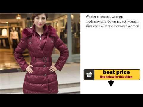 Winter overcoat women medium-long down jacket women slim coat winter outerwear women winter coat