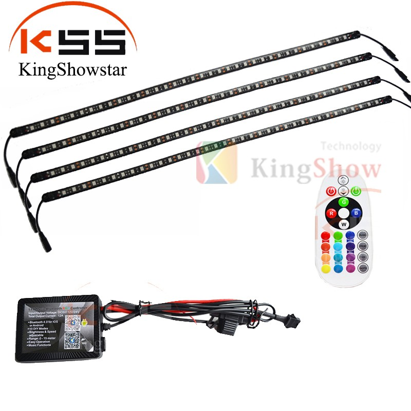 4pc Multi-Color Waterproof Black&Clear Duarable Casing LED super bright Led Marine Light
