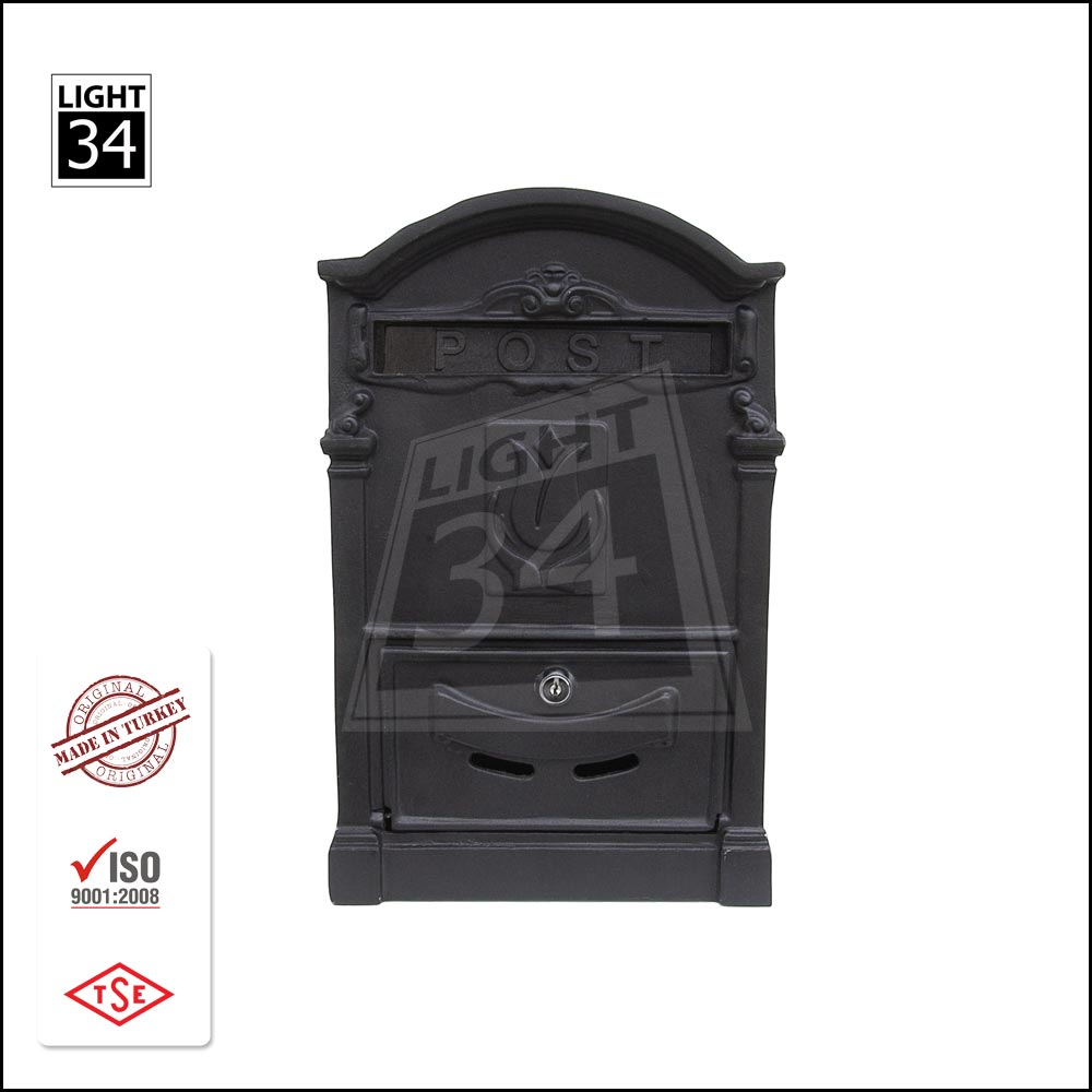 Wall Mounted Post Box Cast Aluminum Mailbox Modern Letter Box