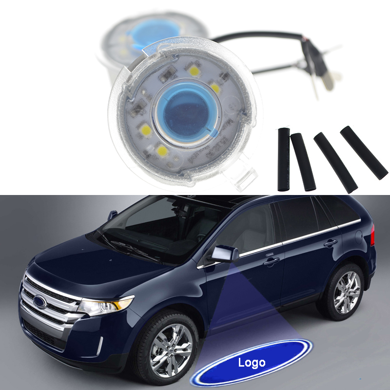 Led Mirror Door Welcome Projector Logo Light Car Styling For Ford
