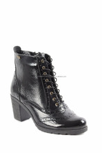 Brogue <span class=keywords><strong>Donne</strong></span> Stivale In Pelle con Lace Up