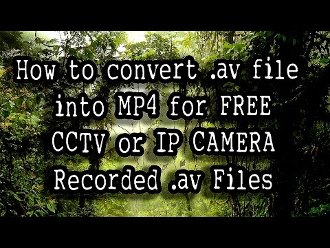 Convert av file into MP4 for FREE av video converter)