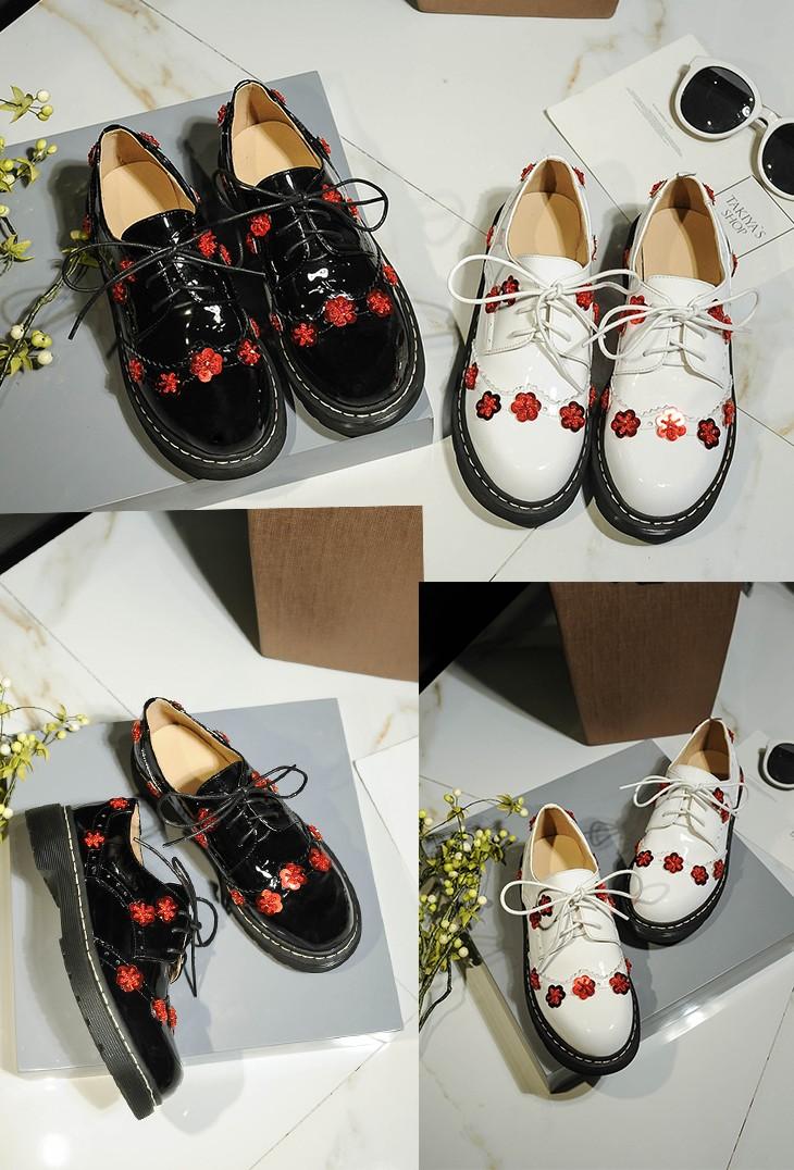 Cómodo Elegante Zapatos Flor Ocio Marca Con Americano Nuevo Zapatos De Patente De Mujeres Buy De Cuero Zapatos Clase De Decorado Las Cómodos Rojo Okn0wP8