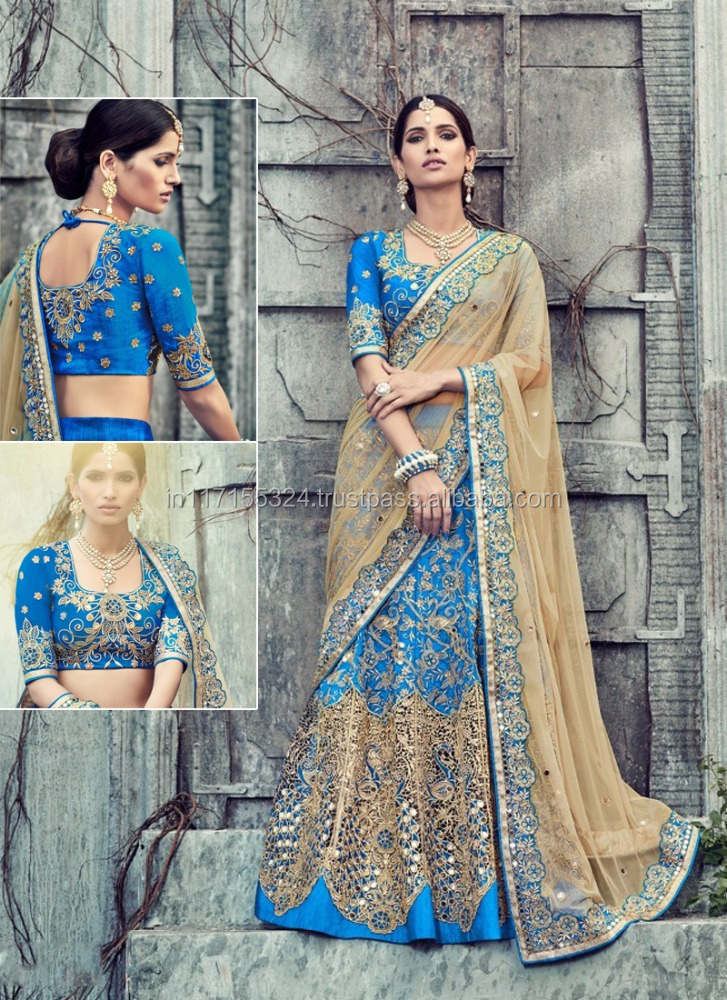 Designer-Art-Silk-lehenga-choli-Gujarati-lehenga Punjabi Lacha Outfit Ideas - 30 Ways to Wear Lacha for Girls