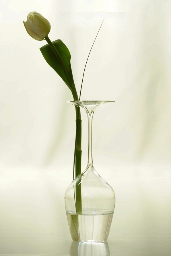 Hand-Blown Glass, Jar Glass bud vase large franciacorta, HandMade in Italy